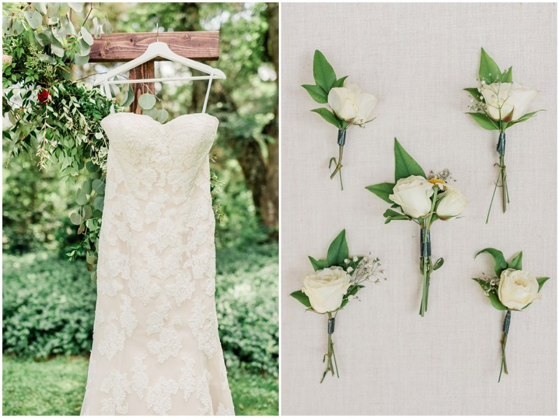 Ivory wedding details