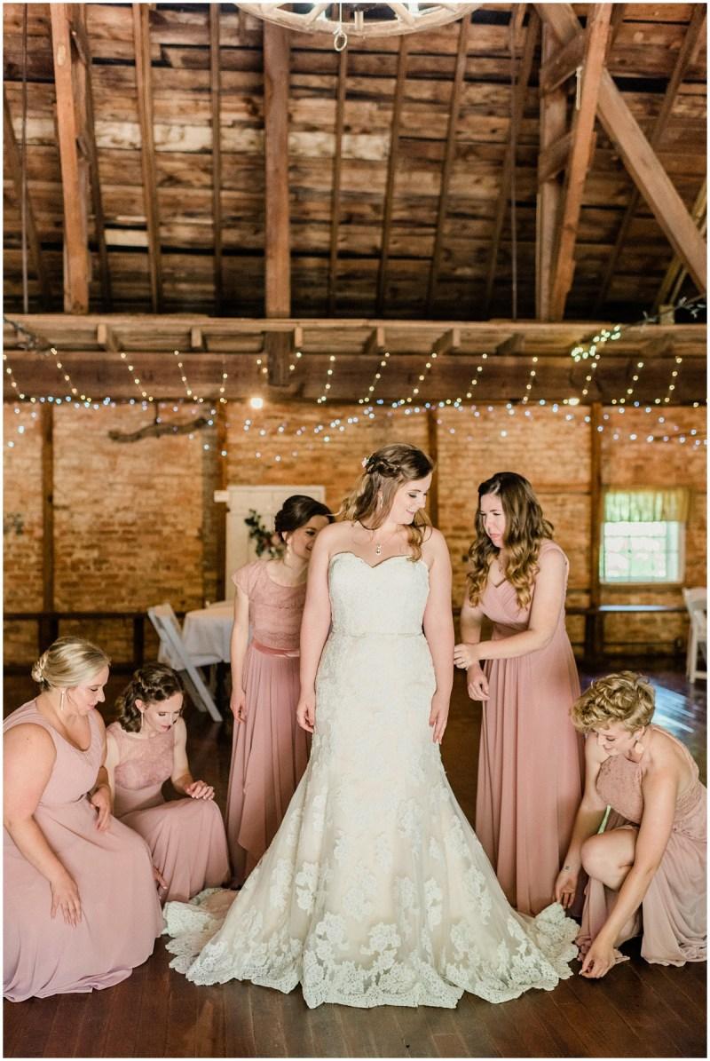Sleepy Hollow Clemson Wedding with dusty rose bridesmaids
