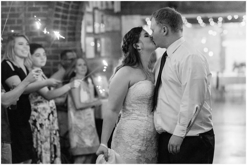 Sleepy Hollow Clemson wedding sparkler exit
