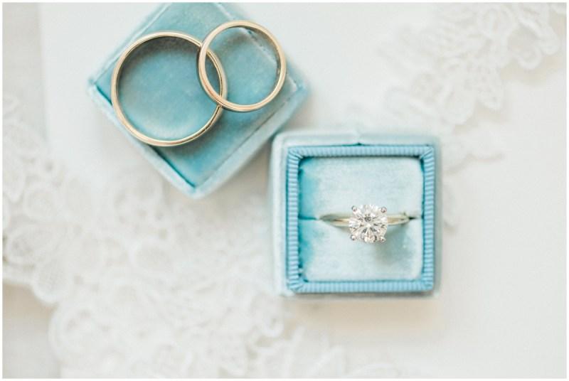 Blue Mrs Box Wedding ring details