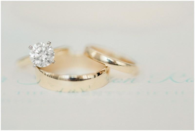 Close up gold wedding ring photos