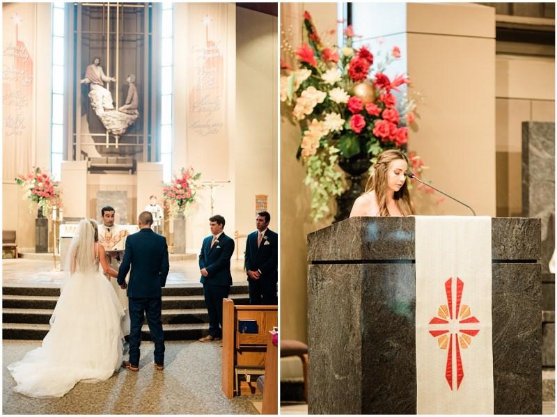 Wedding Ceremony at St. Mary Magdalene Catholic Church