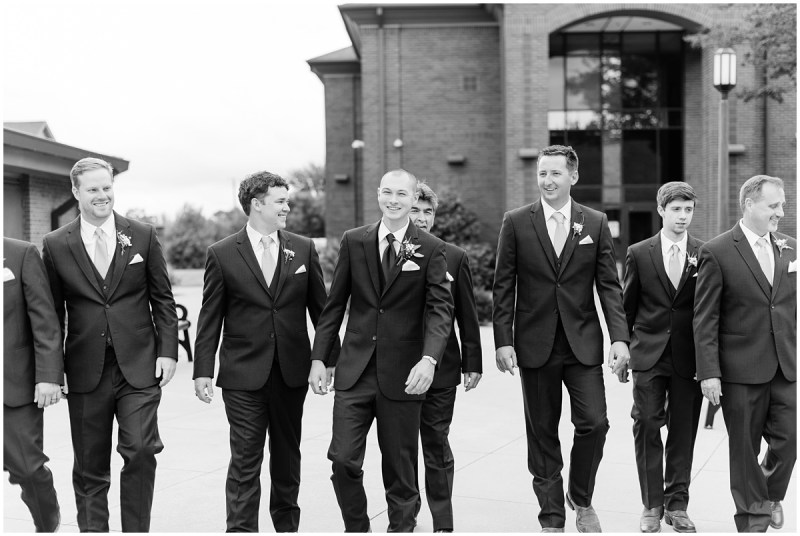 Black and white groomsmen photos
