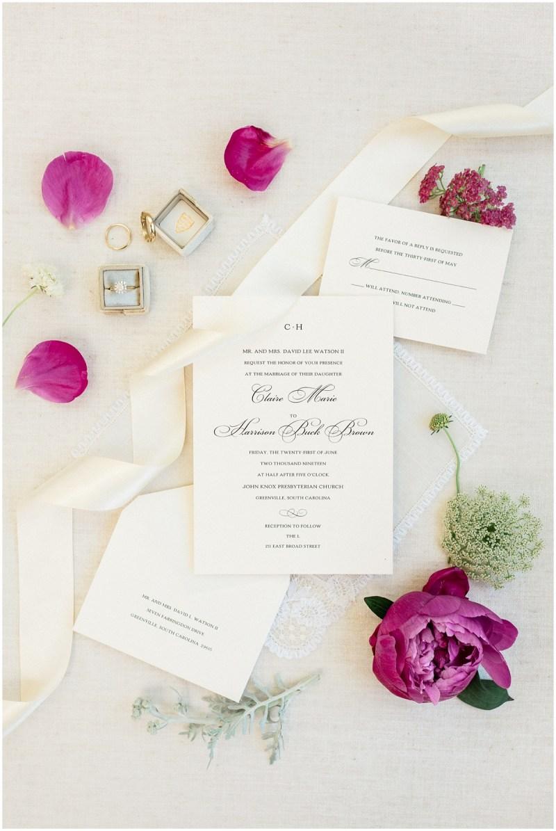 Pink bridal details