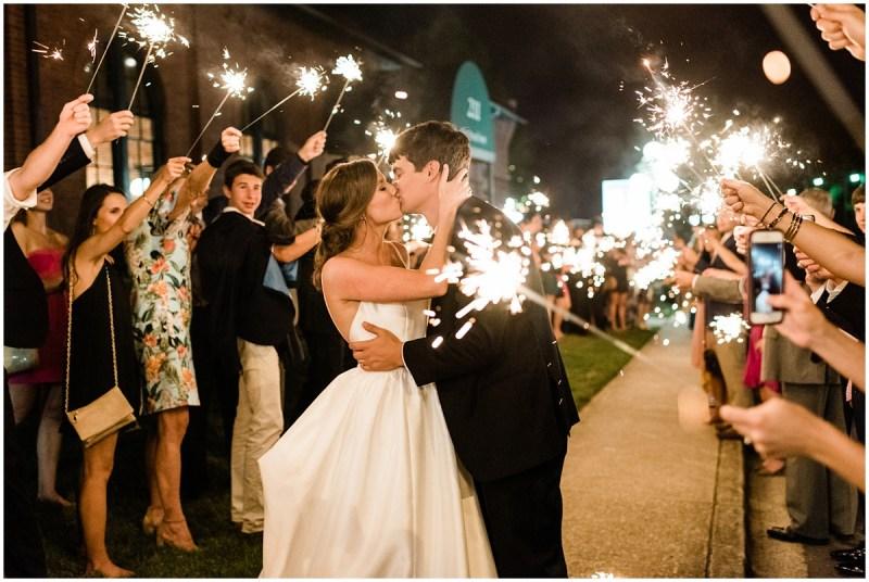 Downtown Greenville L Wedding Sparkler Exit
