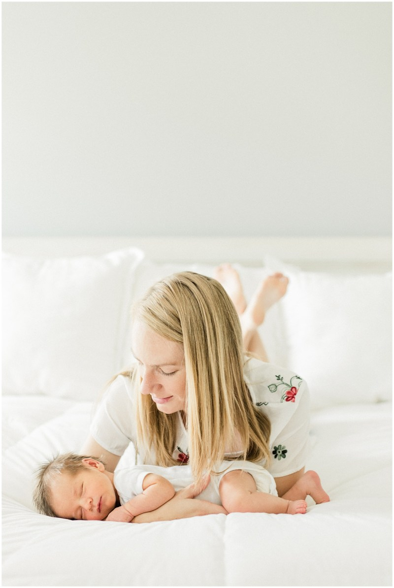 Lifestyle Newborn Session with Mama and Baby