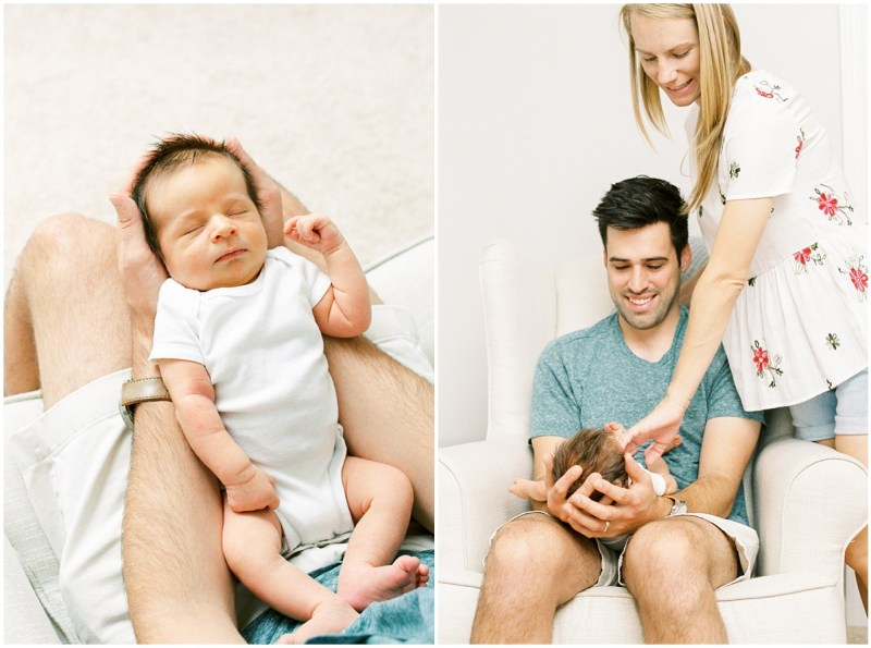 In Home Film Photography Newborn Session