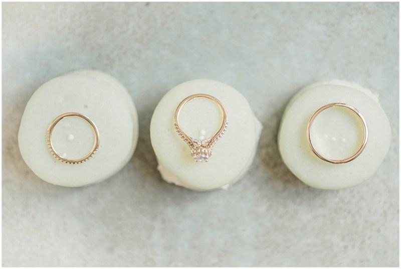 Macroon Wedding Ring Shot