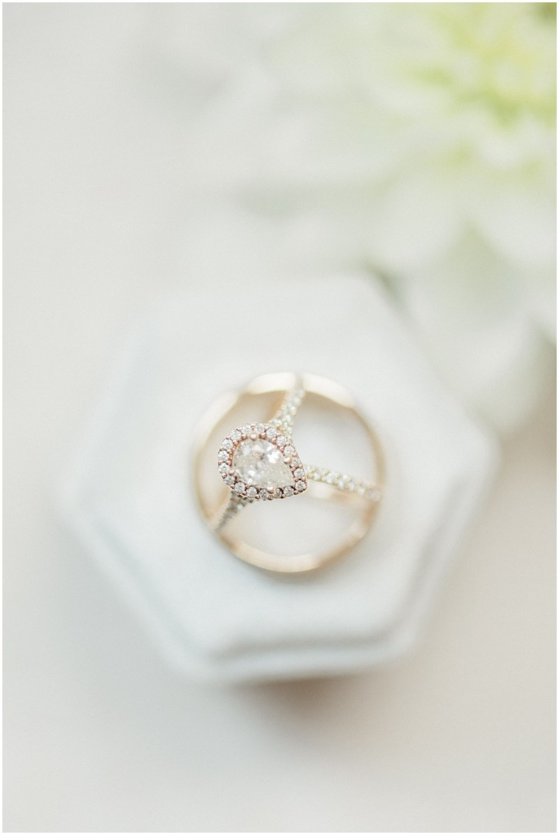 Wedding Rings and Ivory Ring Box