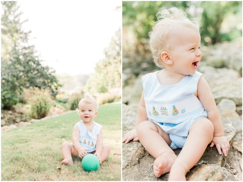 One Year Session | Rock Quarry Garden Greenville, SC