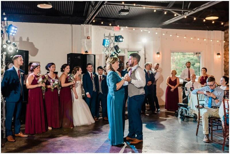 Burgundy Larkins Sawmill Wedding