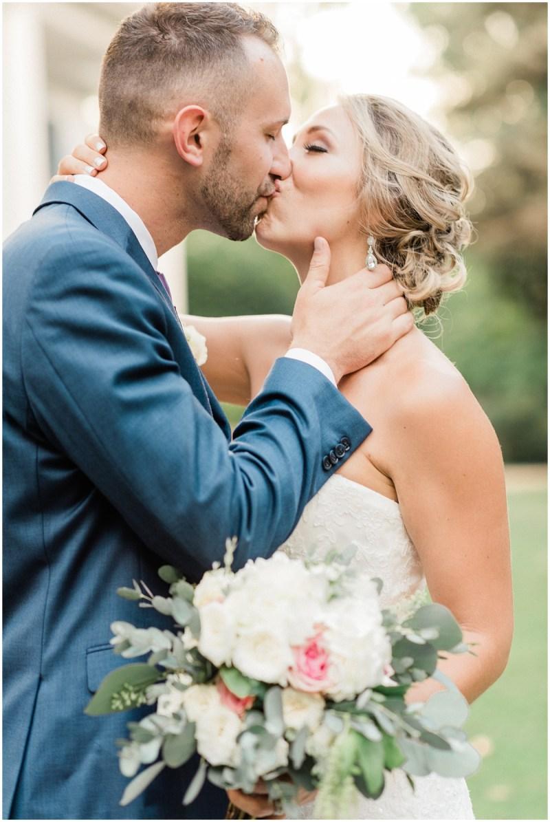 Bride and Groom kissing   Duncan Estate