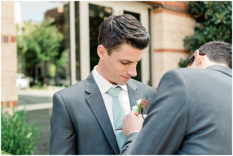Groom getting ready photos | downtown Greenville wedding