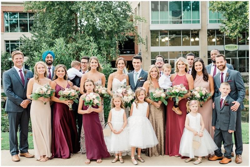 Larkins downtown Greenville wedding | Bridal Party photos