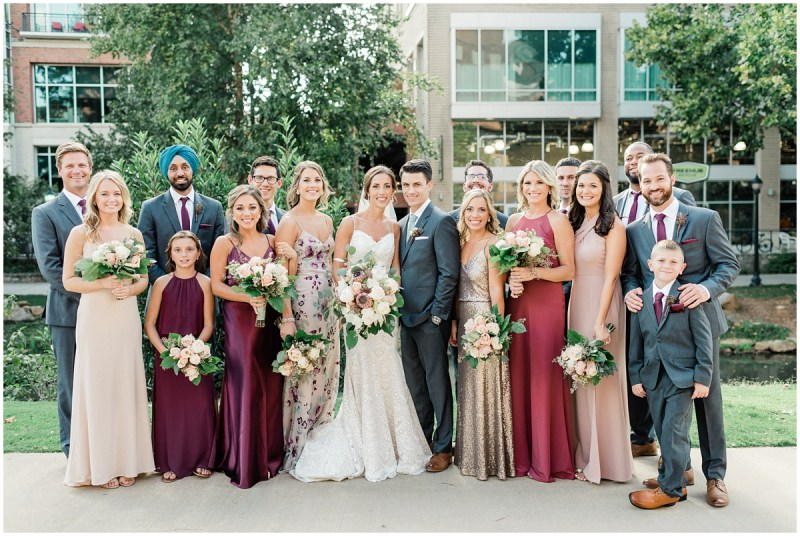 Different bridesmaid dresses and patterns