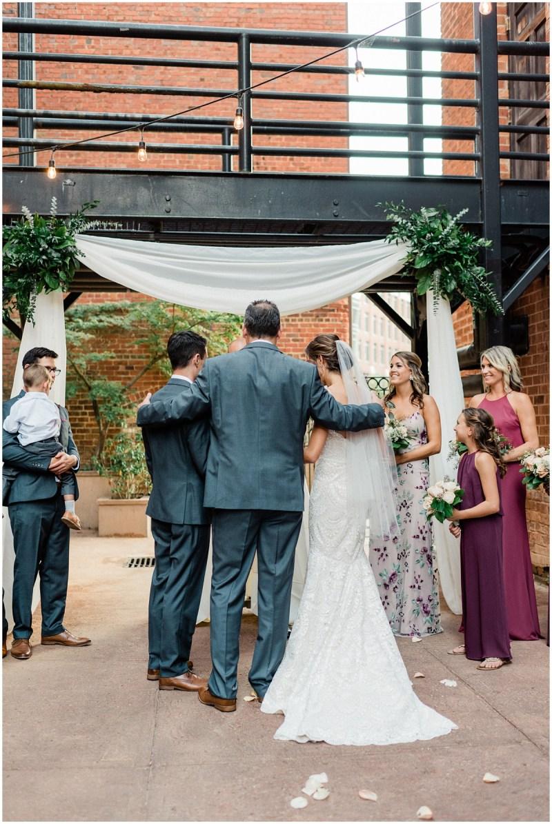 Larkins Courtyard Wedding Ceremony