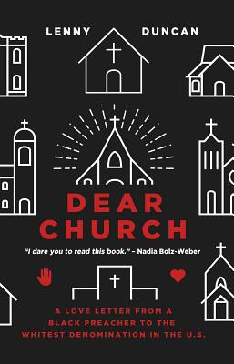 book cover for dear church by lenny duncan