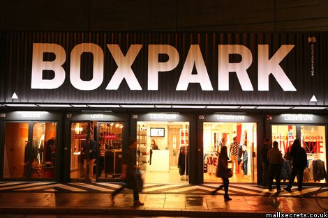 Boxpark mall, Shoreditch