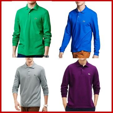 קטלוג חולצות פולו ארוכות לגברים לקוסט LACOSTE