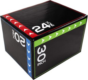 Epic Fitness 3-in-1 Foam Plyometric Box Jumping Exercise Trainer (Regular, 16 Pounds)