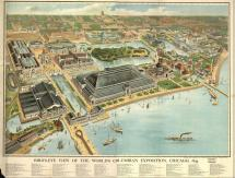 World Columbian Exposition Chicago 1893 Map