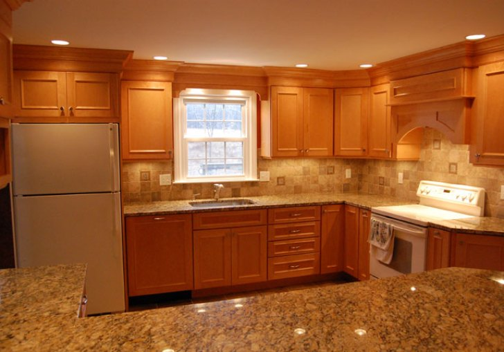 Maple Kitchen Cabinets Granite Countertops