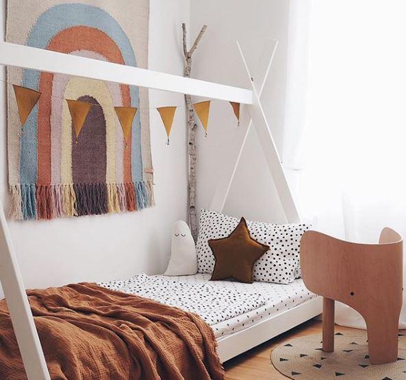 cama montessori, decoración infantil, deco niños, Maloo Studio