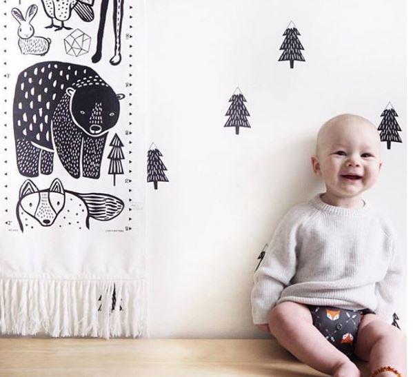 dormitorio bebe, decoración bebé, colores para bebes, montessori
