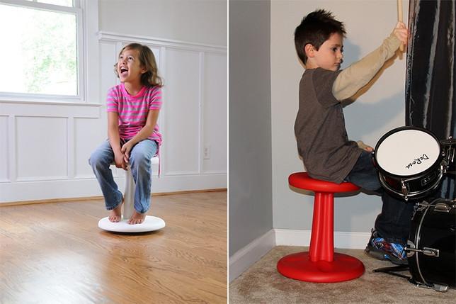 taburete balanceo, equilibrio niños, asientos flexibles, maloo studio