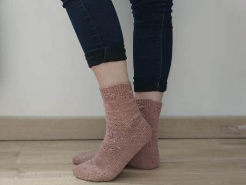 Malva socks, chausssettes au tricot