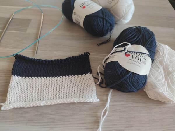 Brodiae, débardeur bicolore au tricot