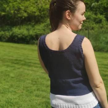 Débardeur bicolore au tricot