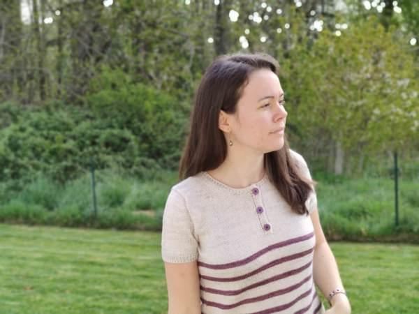 Cattleya Tee, tee-shirt au tricot pour femme