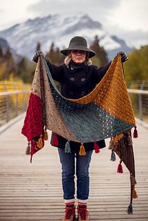 Moraine shawl - 10 châle au tricot pour l'automne