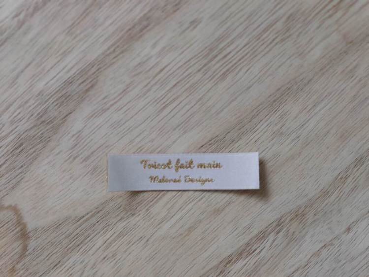 Étiquettes tissées -Tricot fait main- Maloraé Designs