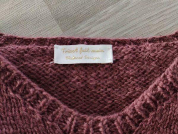 Étiquettes tissées - Tricot fait main - Maloraé Designs