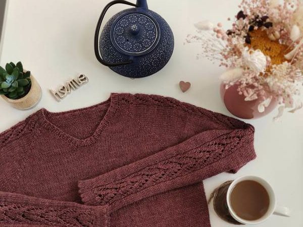 Maloraé Designs - Watsonia - Pull en dentelle et dents de chat pour femme au tricot