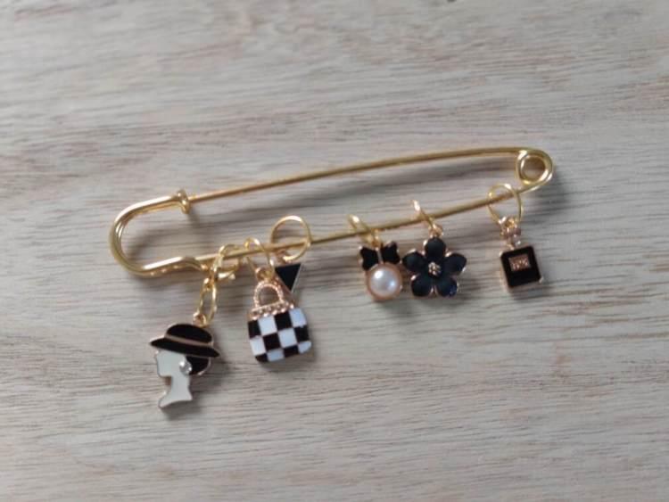 Lot anneaux marqueurs - Black and Gold 2 - Maloraé Designs