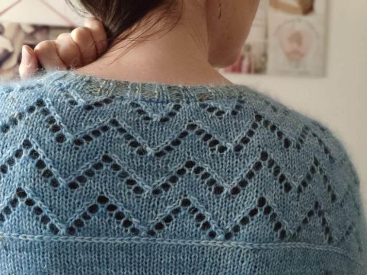 Gilet en dentelle au tricot pour femme -Maloraé Designs
