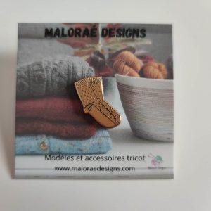 Pin's Malva socks - Tricot - Maloraé Designs