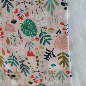 Précommande panier projets tricot - Choix tissu - Pink Jungle - Maloraé designs