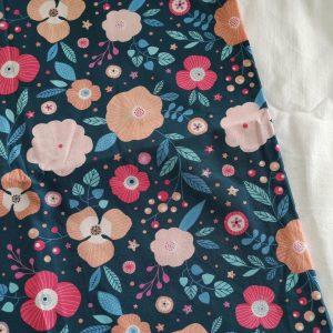 Précommande panier projets tricot - Choix tissu -Fleurs Bleues - Maloraé designs