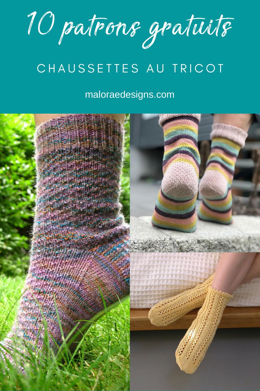 10 patrons gratuits pour tricoter des chaussettes - Maloraé Designs