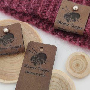 Étiquettes à rivets - Maloraé Designs - Marron