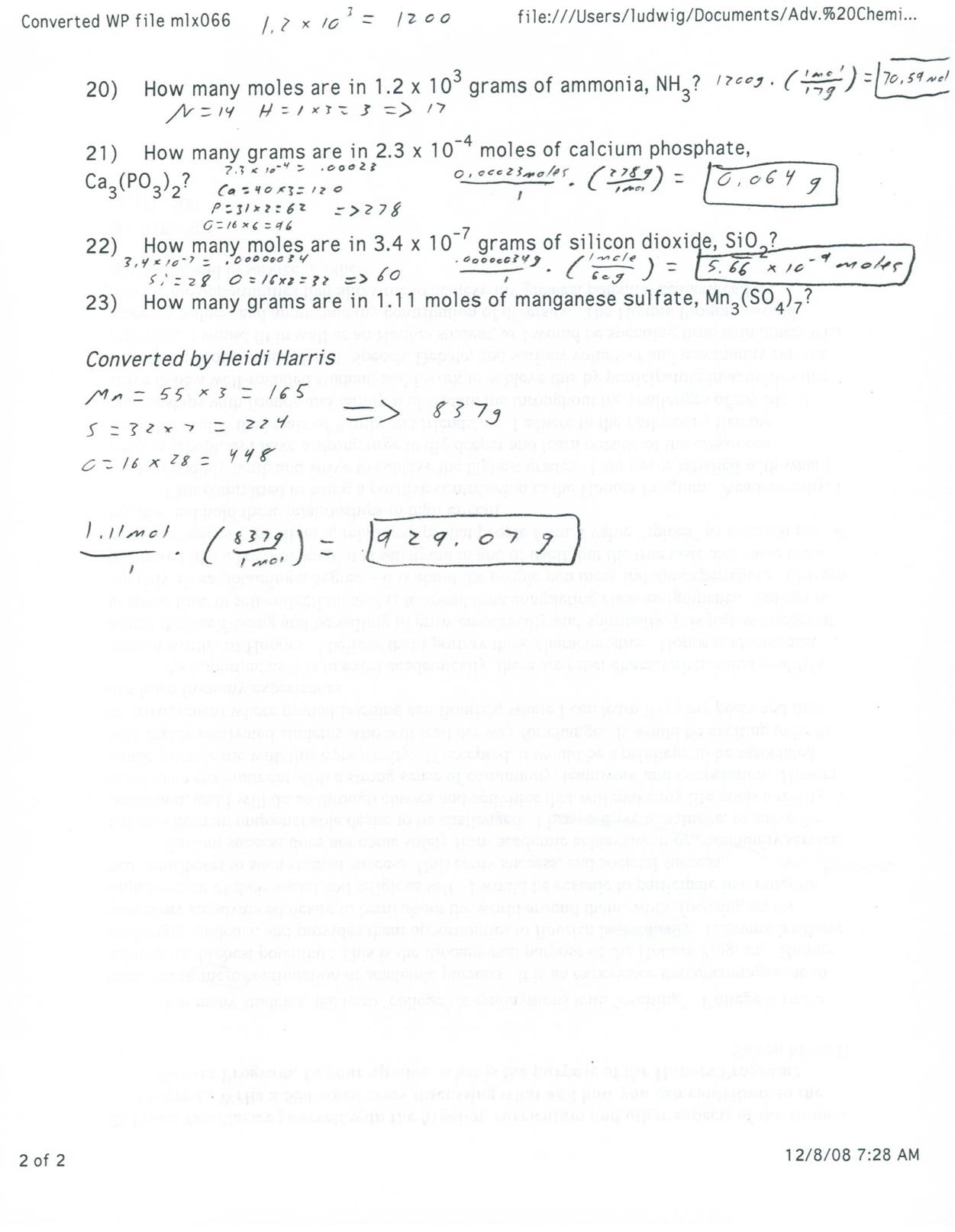 Malouff S Chemistry Blog