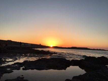 ペンブローク・ビーチから見る夕日