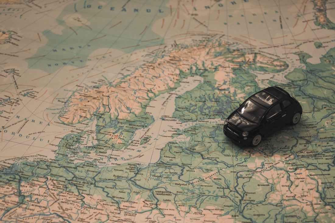 地図上のフィンランド