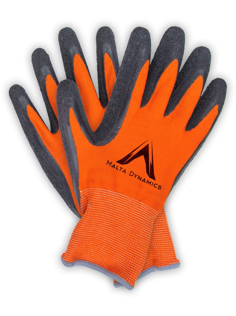 G2000 - 13N Thin Orange Polyester Gloves w/Latex Palm (12 Pair Pack)
