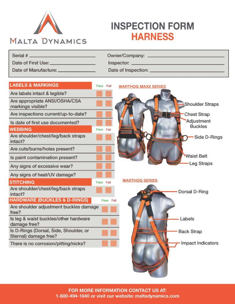 Inspection Form Harness - Malta Dynamics