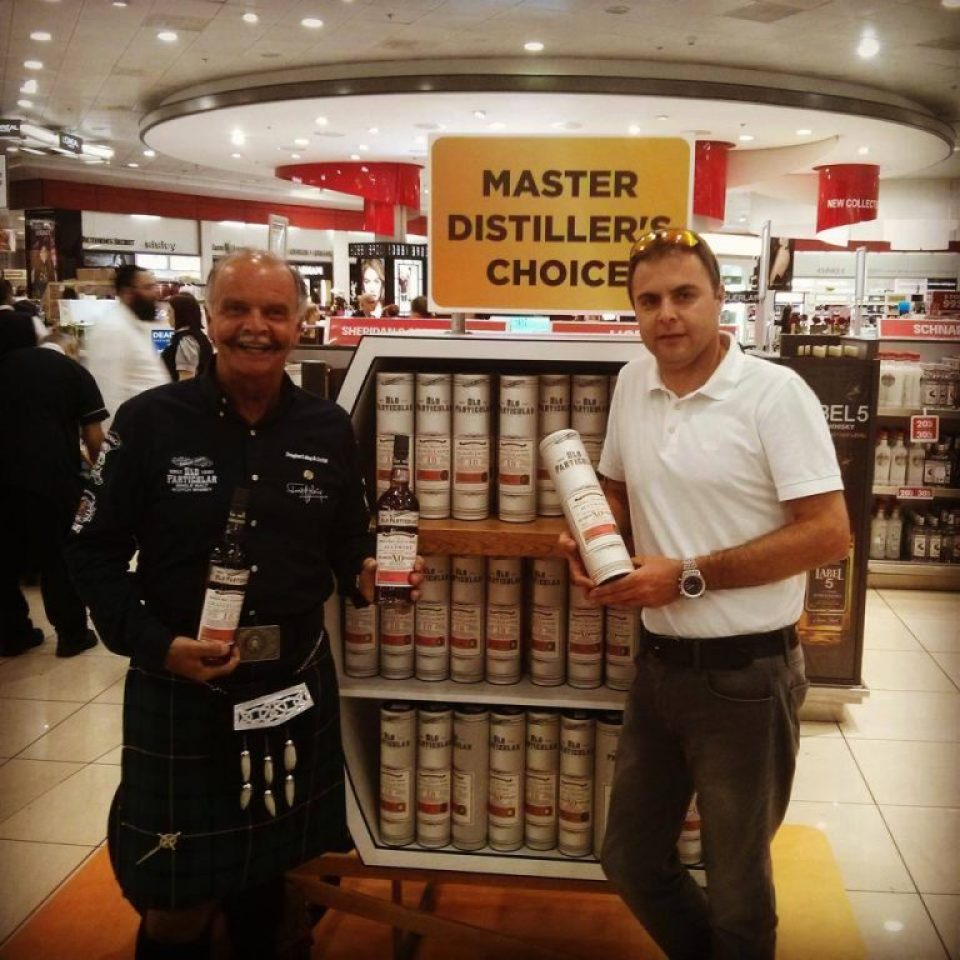Fred Laing at the TLV James RichardsonTravel Retail Stores